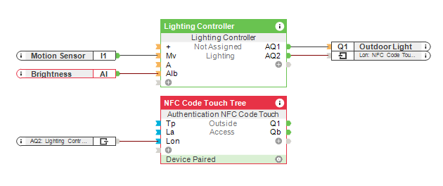 Protecting your NFC Code Touch - Loxone Config Screenshot