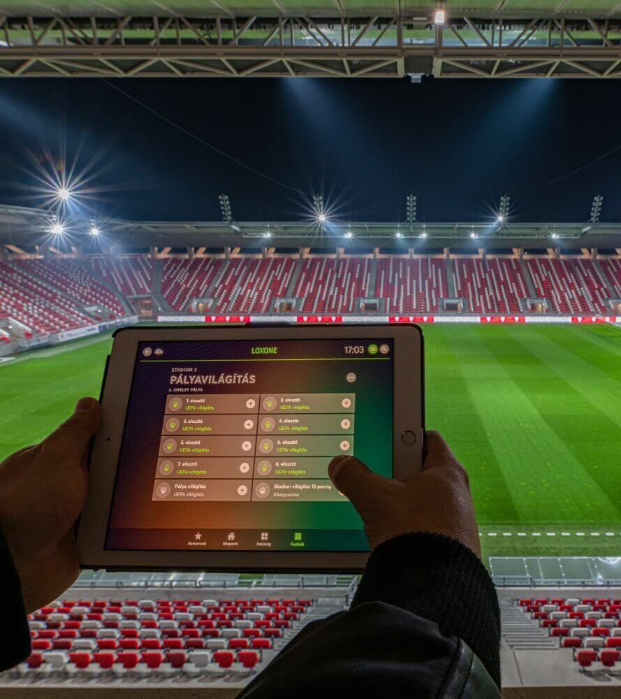 App controlled football stadium