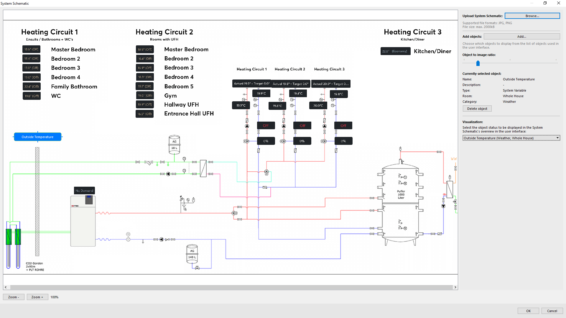 Schematic Diagrams - Loxone Config Screenshot