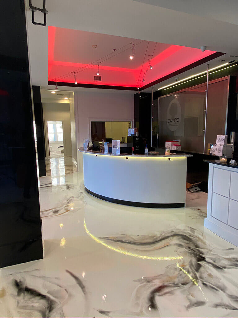 Doctor office entry room with LED Strip lighting