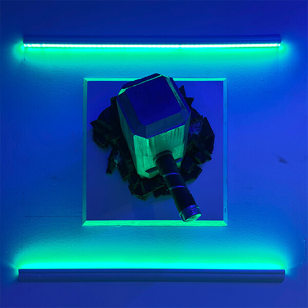 Thor hammer with LED lighting effect