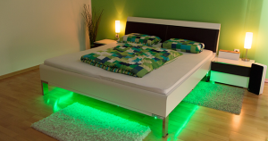 Lighting under the bed - Green