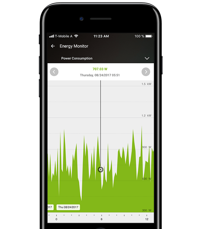Energy Management via Loxone App