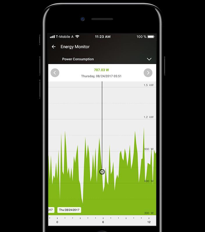 Energy Management via Loxone App