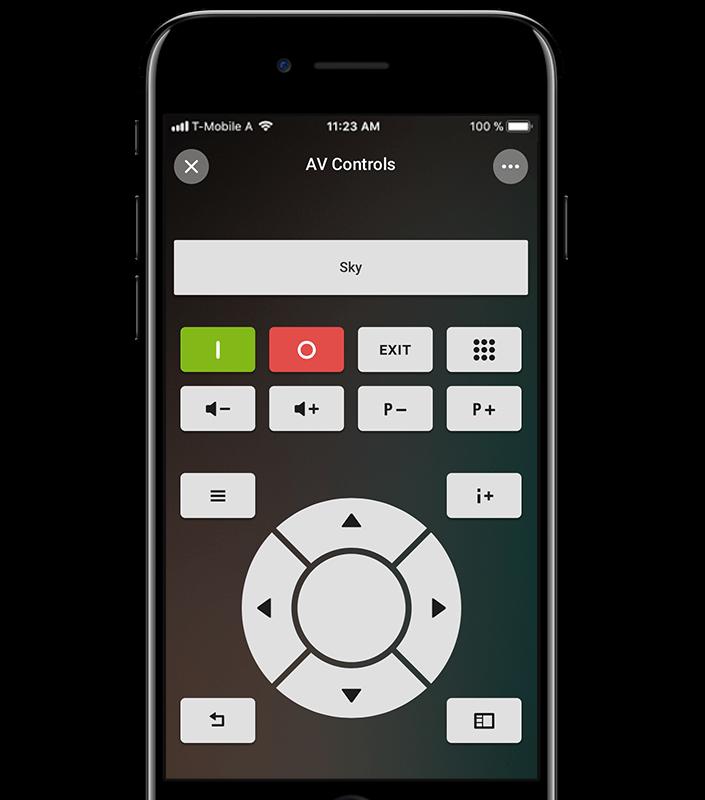 Loxone Smart Home App - Media Controller