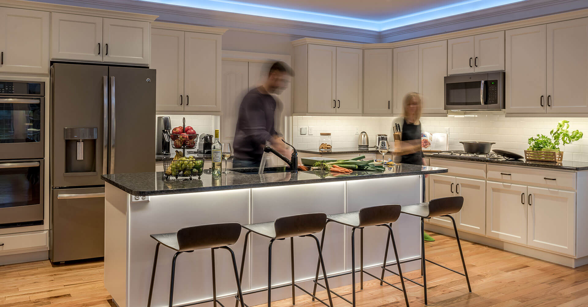 Cooking scene in the Loxone Smart Home