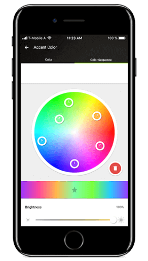 Smart Home App - Color Sequence
