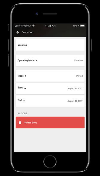 Loxone Smart Home App - Schedule Mode