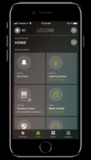 Smart Home App - Home Screen