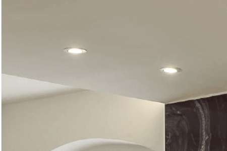 Ceiling with LED Spots