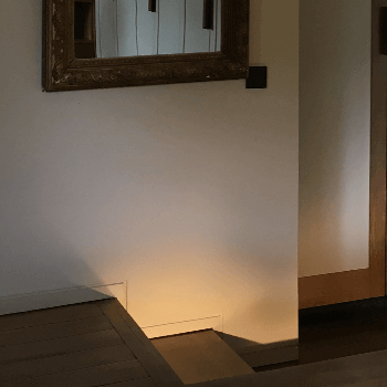 LED lighting effect along step