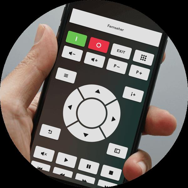 Smartphone displaying Loxone app