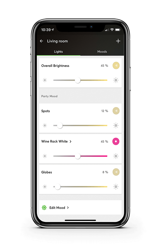 Smart Home App - Light Moods