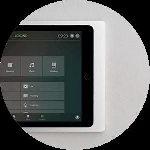 iPad Wallmount hanging on wall with no cords visible