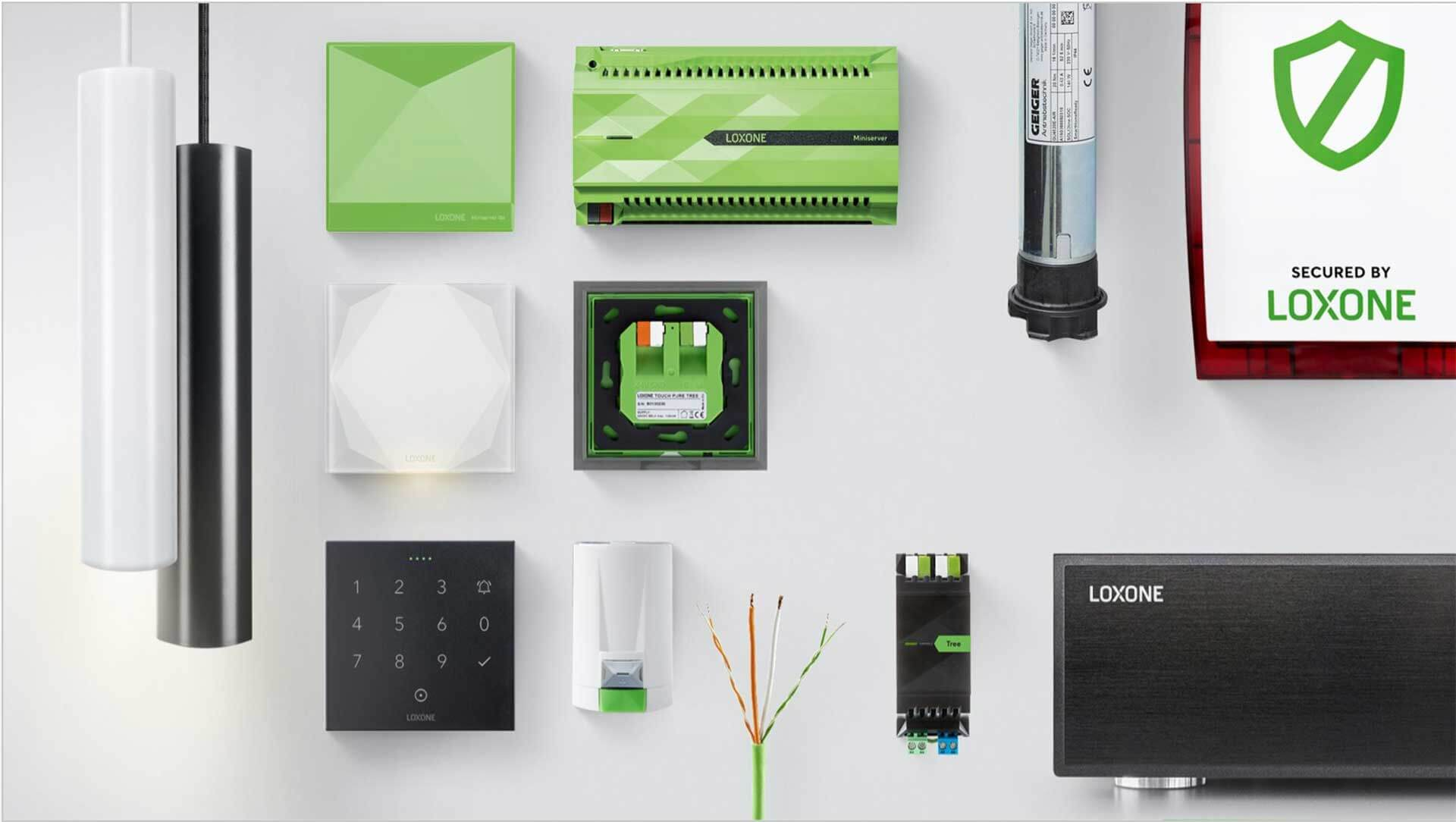 Aesthetic arrangement of Loxone products
