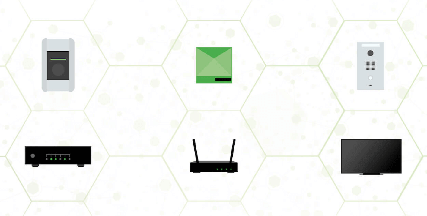Graphic showing devices with network connection