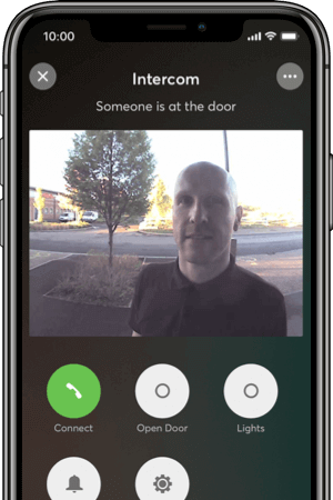 Intercom display of visitor's face accessed in the app.