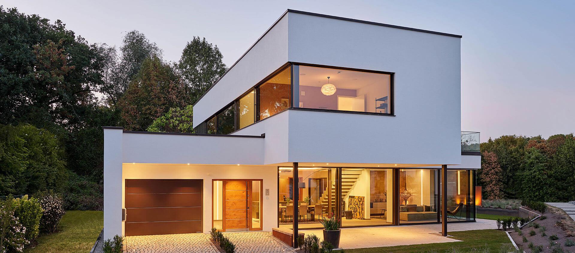 Modern white smart home