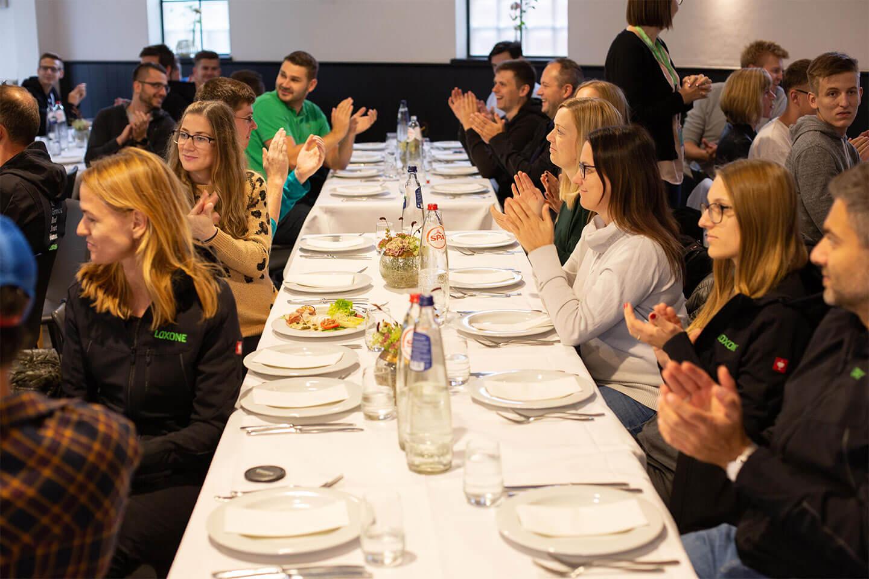 Loxone employees enjoying brunch together