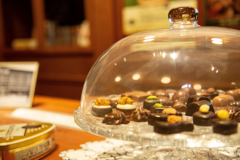 Aesthetic display of chocolates