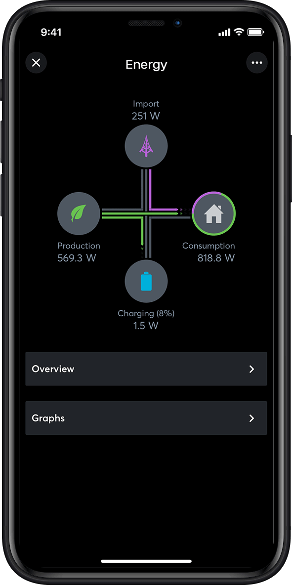 Energy management in the Loxone App