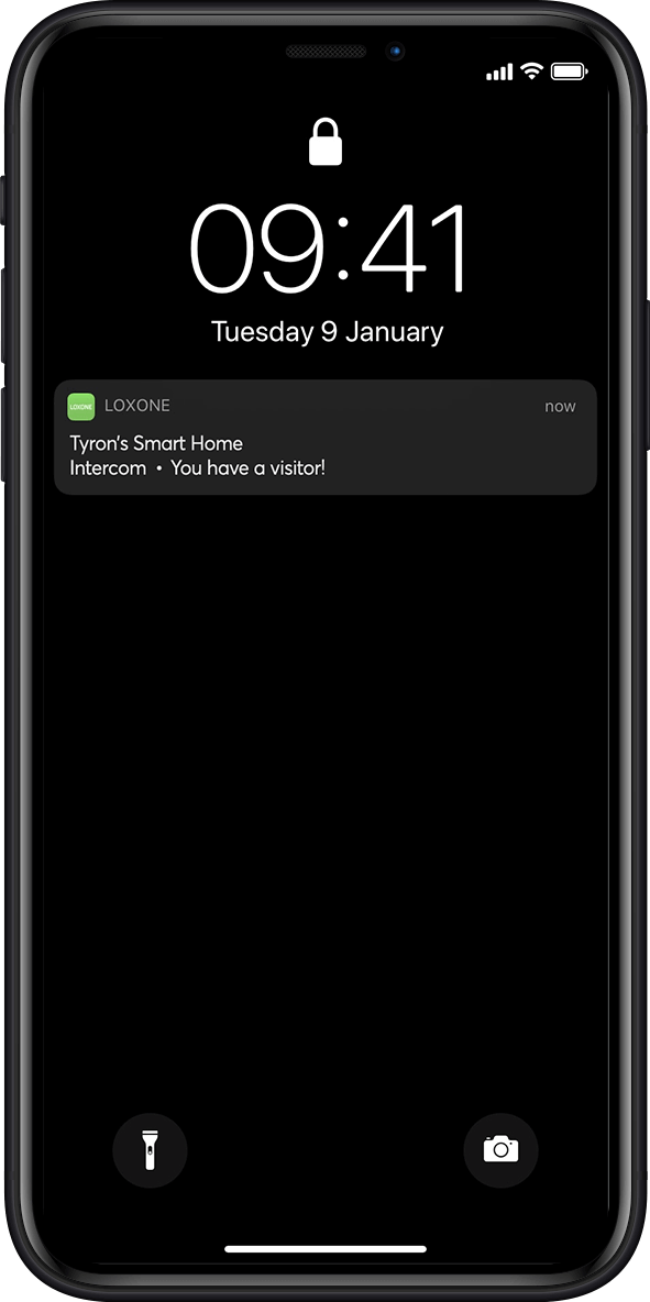 Smart home app push notification