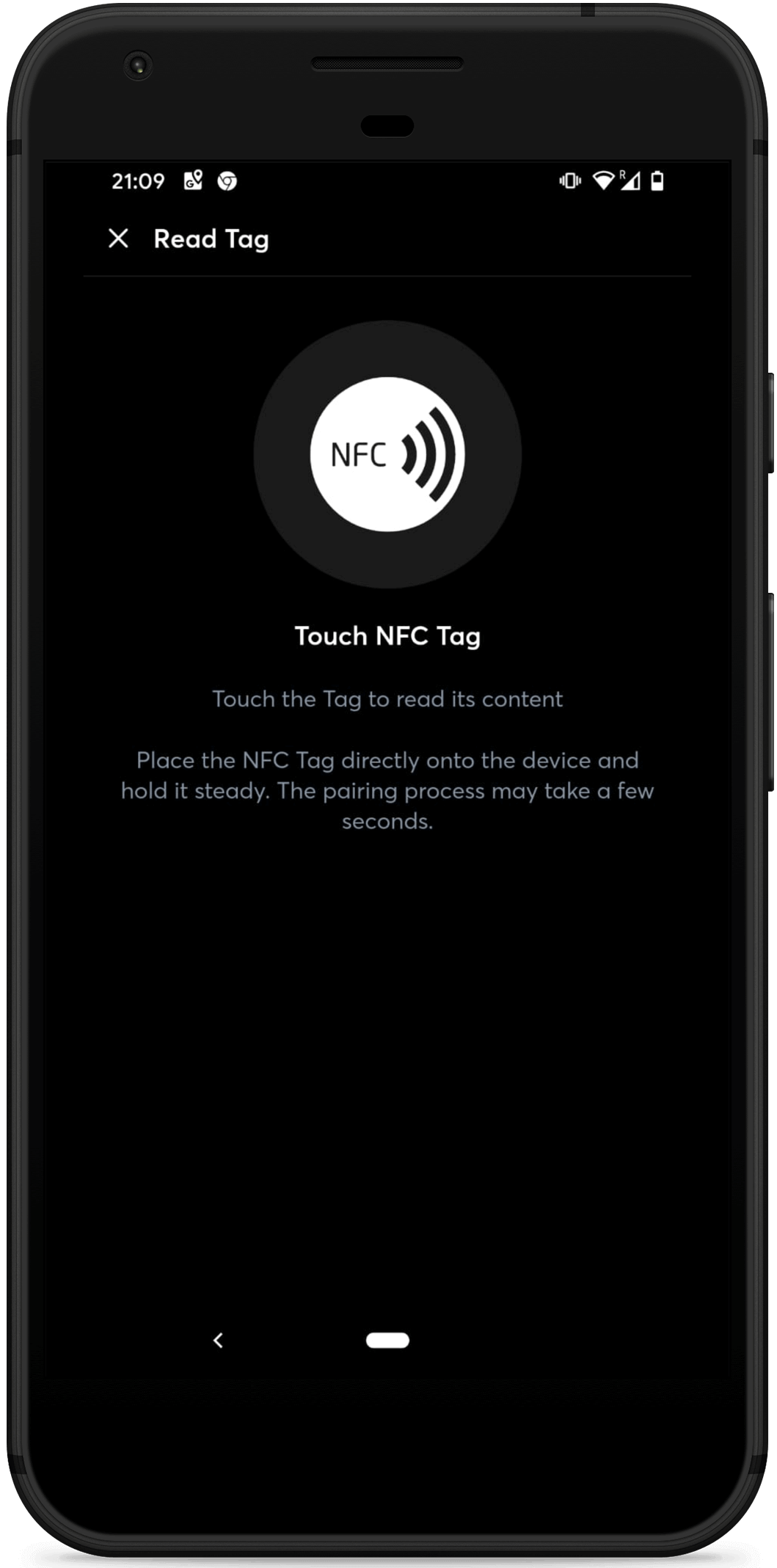NFC in the smart home app