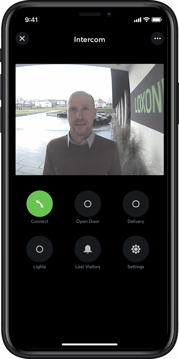Intercom in the smart home app