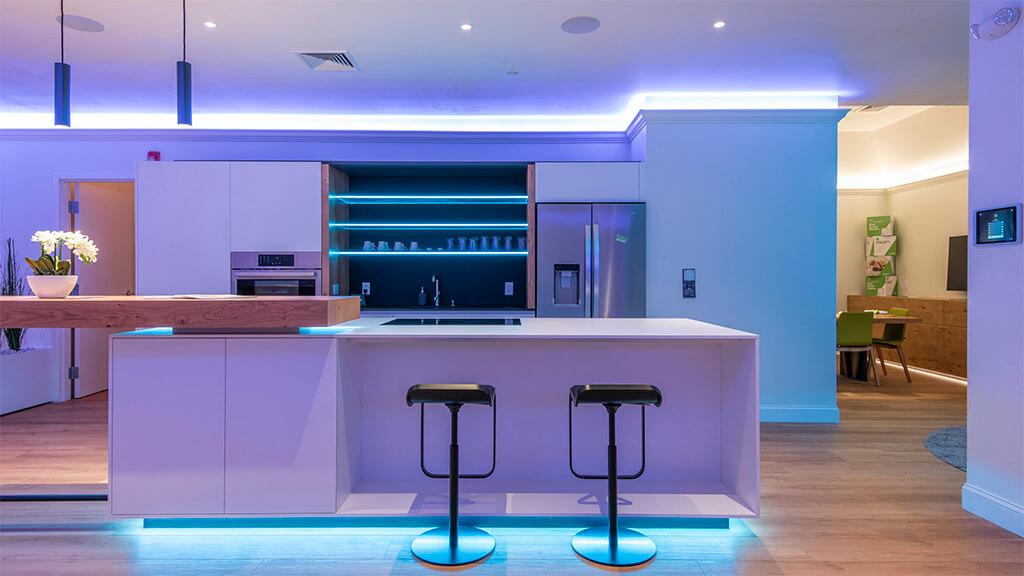 Loxone Experience Center led lighting mood