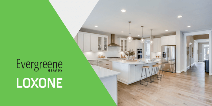 Smart home community by Evergreene Homes and Loxone