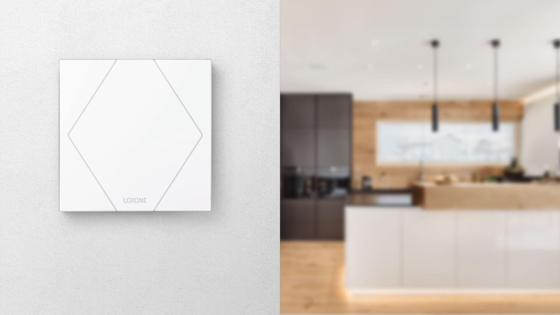 Touch Pure on kitchen wall