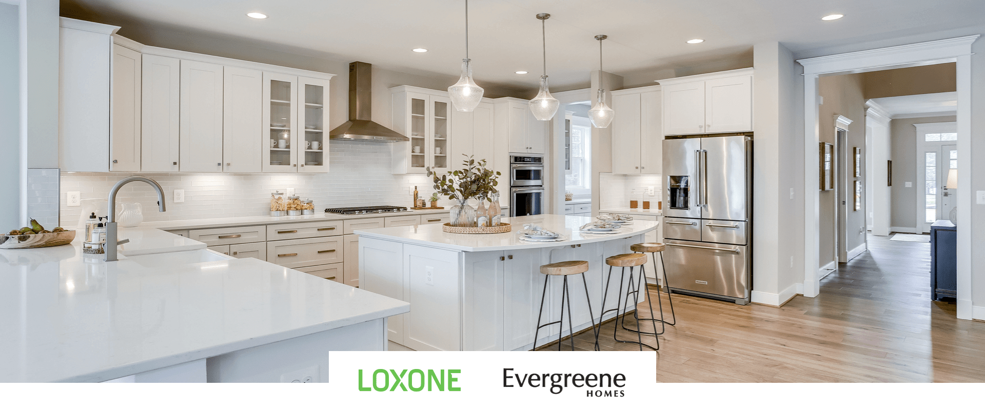 Loxone and Evergrene kitchen