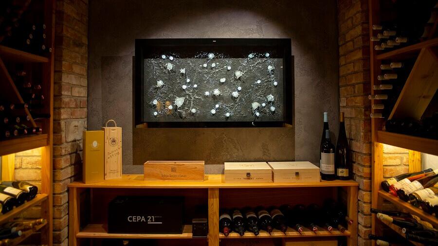 Wine tasting cellar enhanced by automation