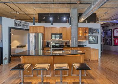 Loft kitchen led lighting