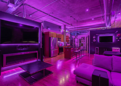 Lighting mood in loft