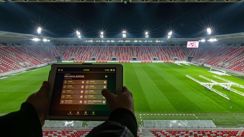 DVTK Stadium lighting control