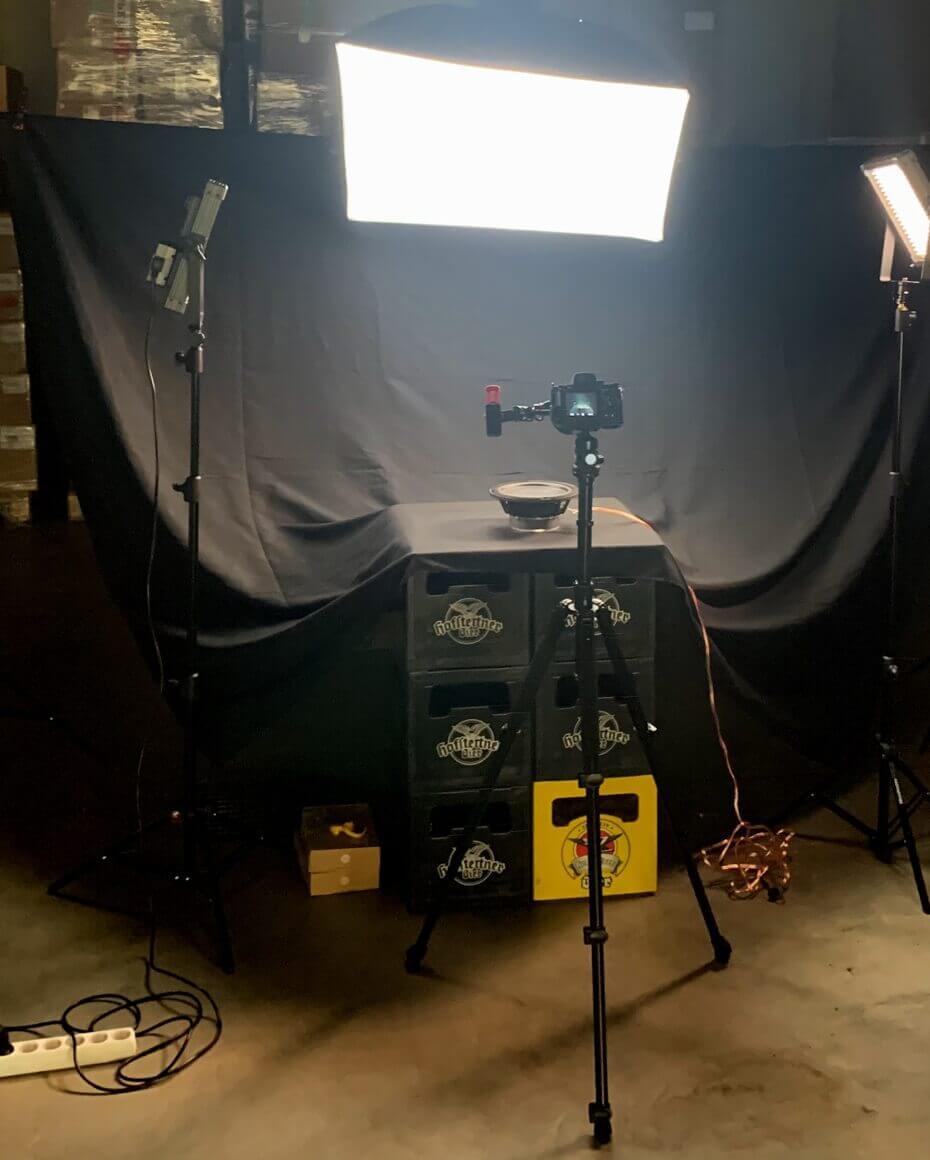 backstage photoshoot setup