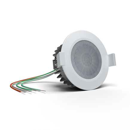 Flush-mounted Presence Sensor Tree White close-up view