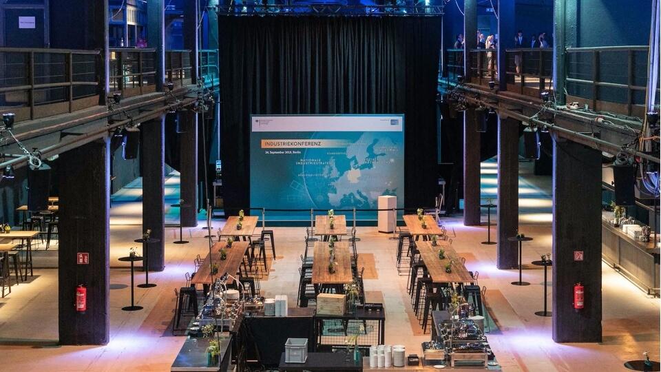 Presentation set-up at Motorwerk Berlin
