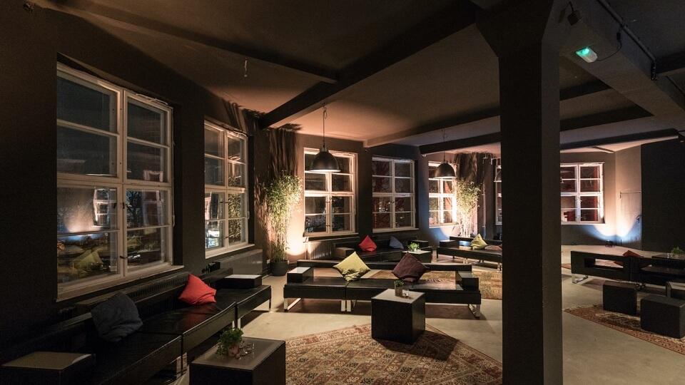 Lounge area at Motorwerk Berlin