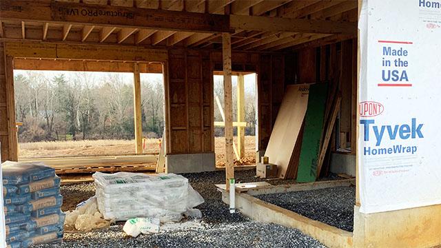 Construction of barn area