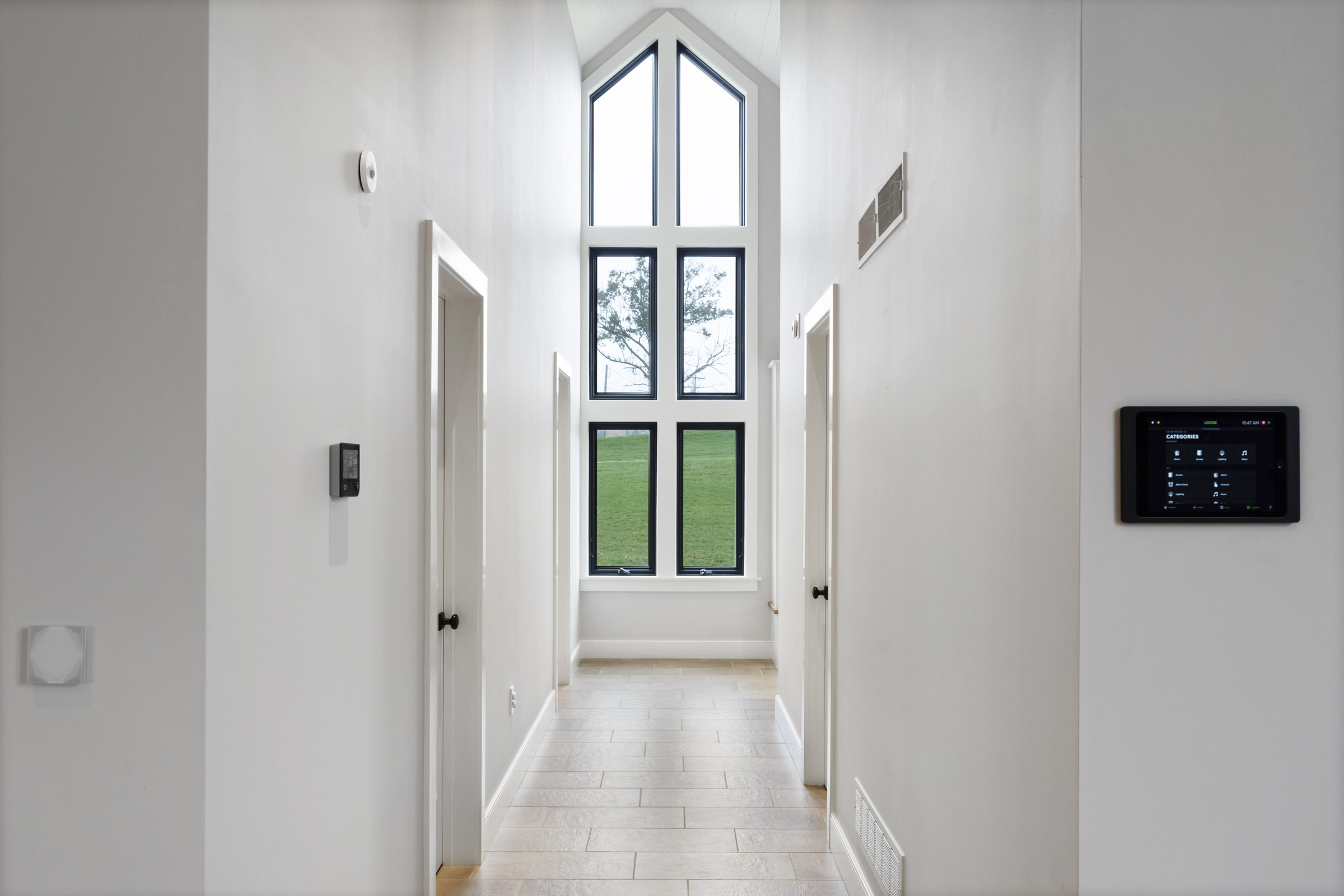 Hallway with smart home control products