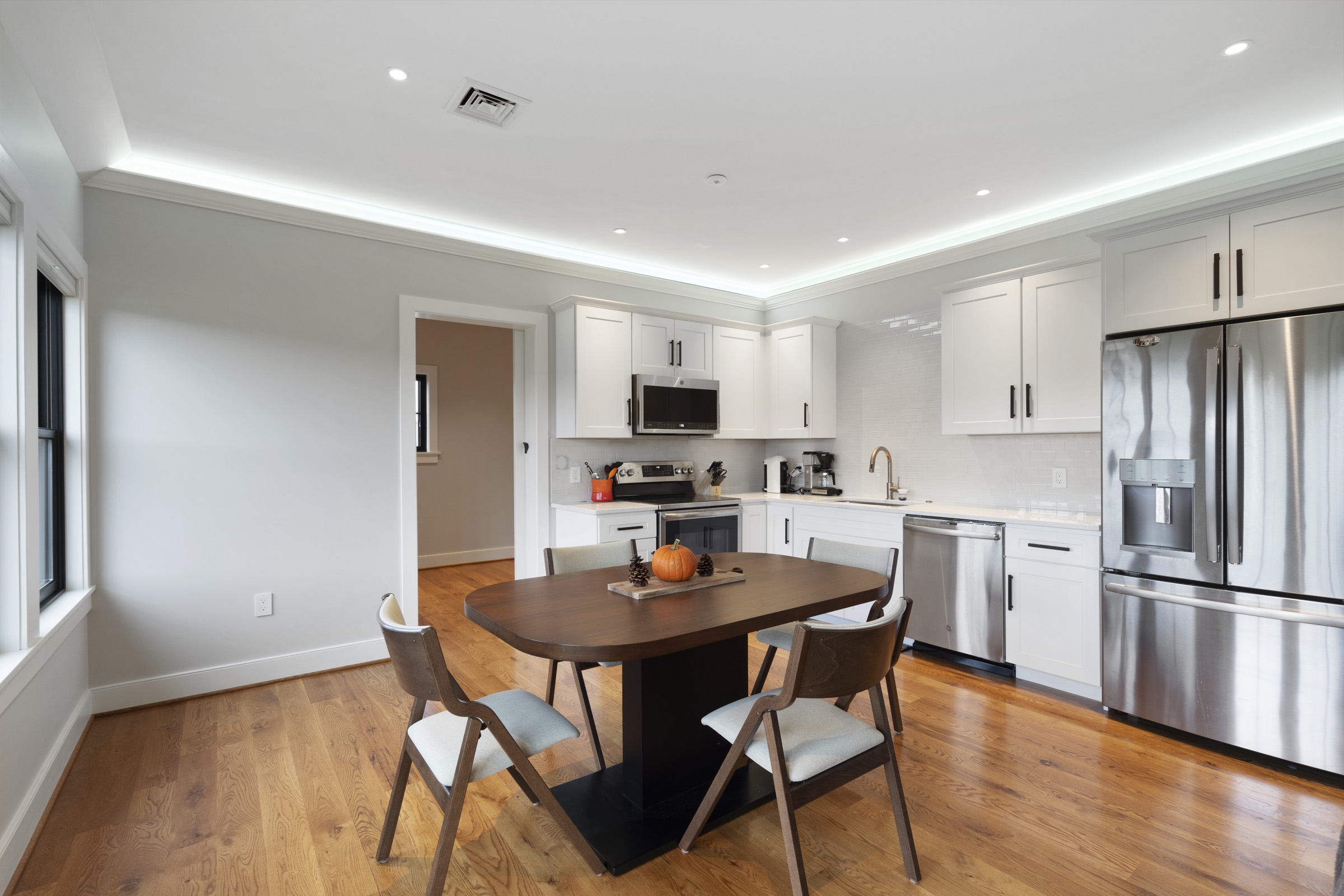 Kitchen with LED Strips and LED Spots