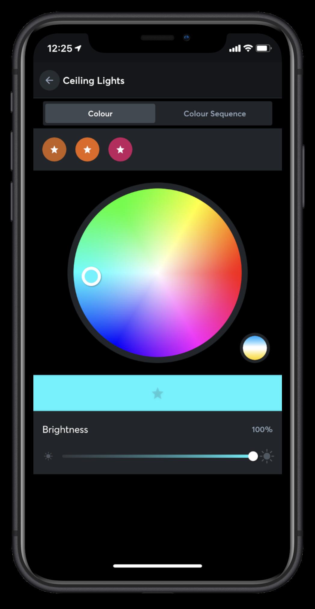iPhone Loxone App Color Picker