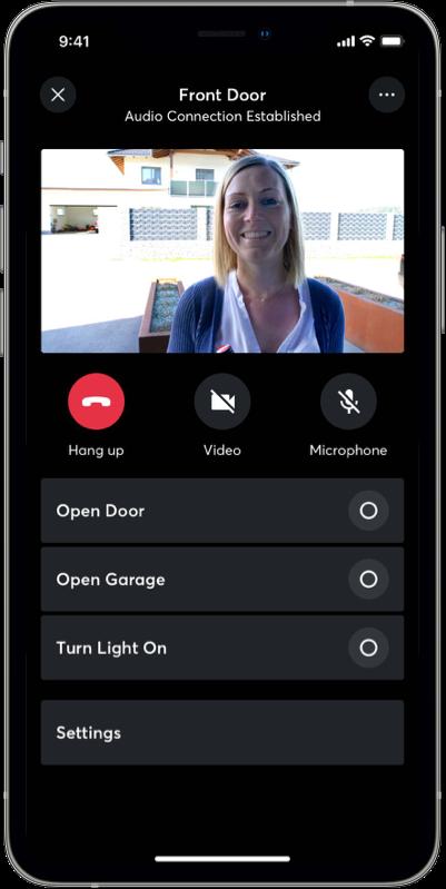 app display front door intercom