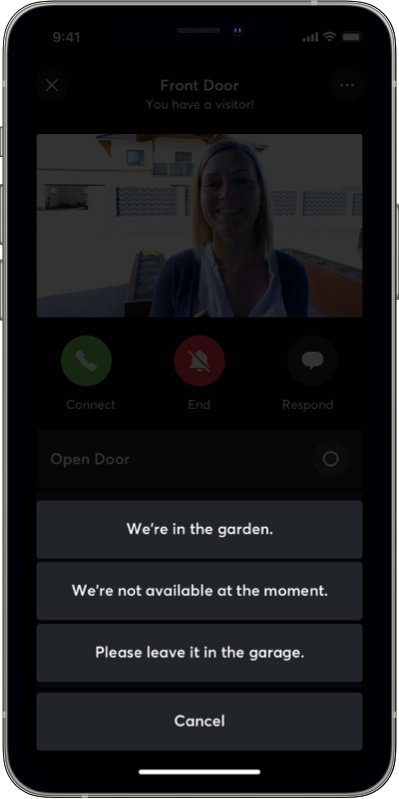 app display intercom message