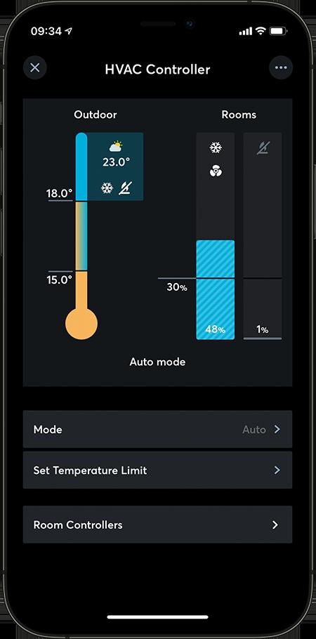 Loxone App HVAC Controller