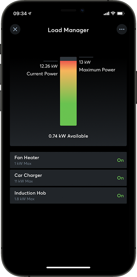 Loxone App Load Manager