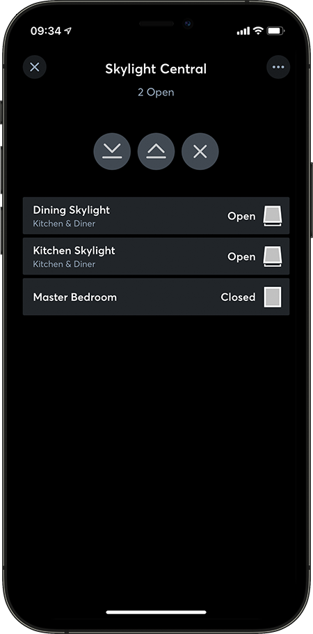 Loxone App Skylight Central
