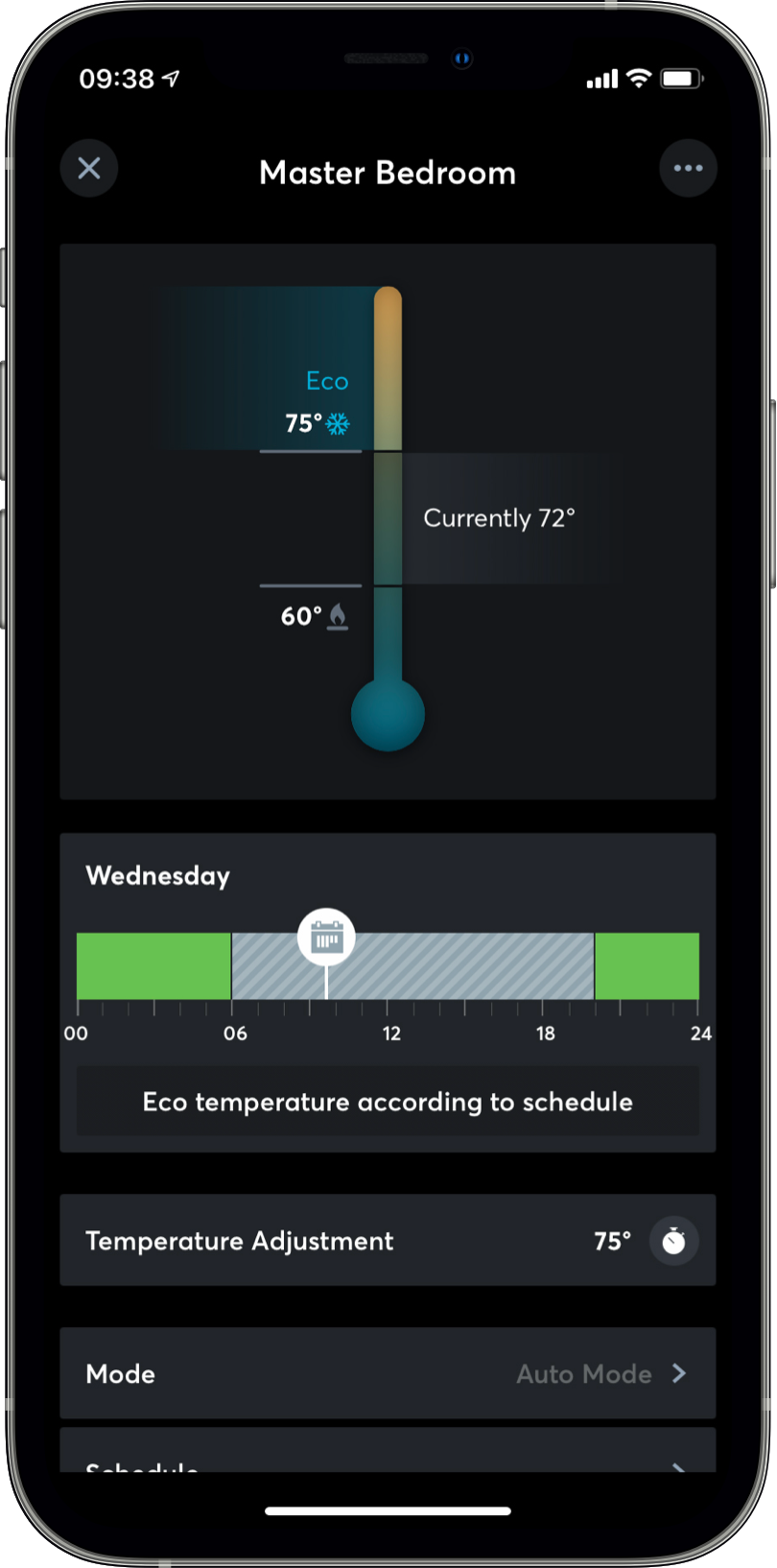App Loxone controlling your HVAC system